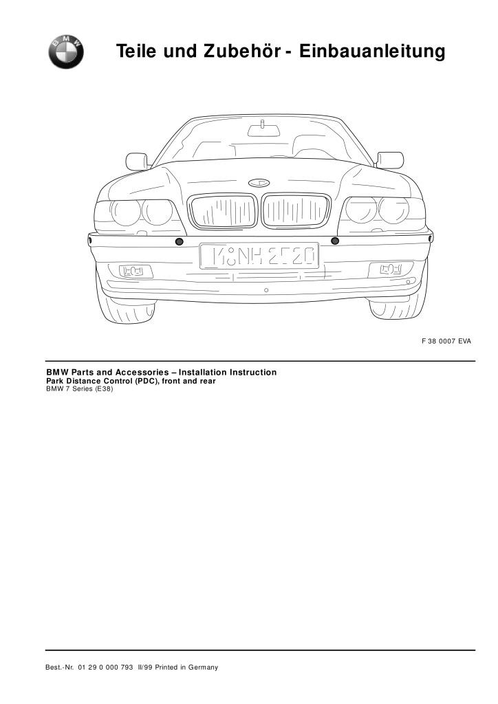 E38 Pdc Retrofit Instructions Pdf  406 Kb